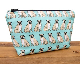 Pug Gifts - Pug Bag - Large Makeup Bag - Pug Makeup Bag - Dog Bag - Toiletry Bag - Cute Pencil Pouch - Make Up Bag - Best Makeup Bags #12