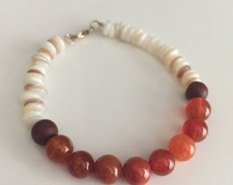 The Orange and Cream Bracelet