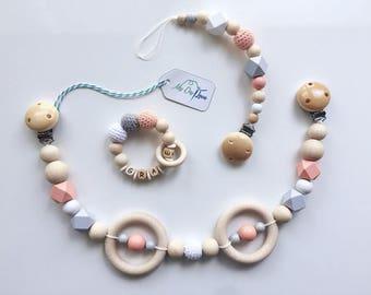 Pram chain grasp ring set