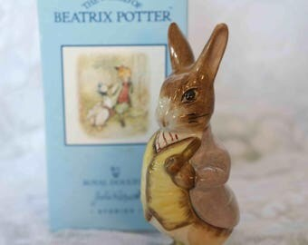 Boxed Royal Doulton Beswick Beatrix Potter Figurine of Mr Benjamin Bunny  Immaculate condition