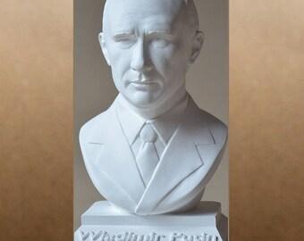 Wladimir Putin color white bust figure sculpture