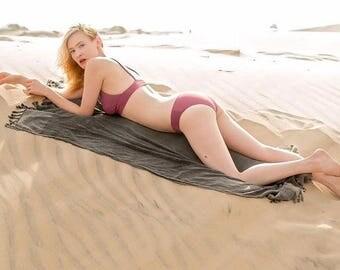 SALE30%OFF! STONE WASH Turkish Towel - For Beach, Bath and Yoga