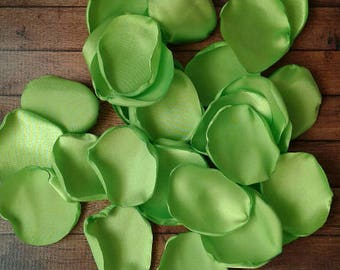 Lime Green Wedding Rose Petals Artificial