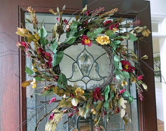 Fall Wreath-Fall Wreaths for Front Door-Poppy Wreath-Front Door Wreaths-Front Door Wreath-Wreaths for Front Door-Poppy-Wreaths Front Door