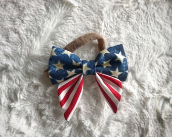4th of July Sailor Bow