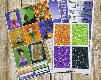 Hocus Pocus Inspired Halloween Planner Stickers, EC Vertical