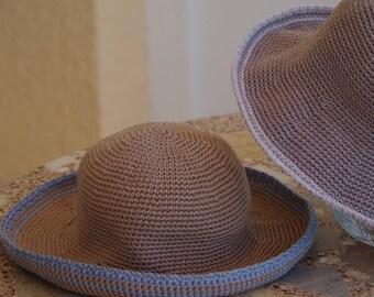 9 - Patron de chapeaux été au crochet enfant et maman