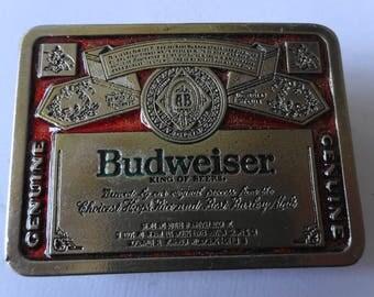 Vintage Budweiser Beer Belt Buckle #2241A