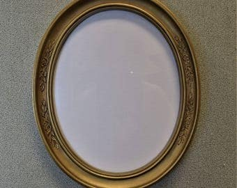 8x10 oval gold plastic frames two available with glass and backing
