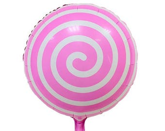 3pcs/lot 18inch lollipop balloon Aluminum Foil balloons helium Candy balony globos pink Candy toys girls gifts Balls