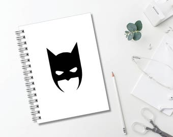 Batman Mask Journal // Minimal Journal // Typography // Fashion // Scandinavian // Diary // Planner // Modern Office // Personalized