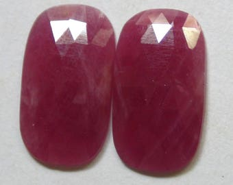 NATURAL RED RUBY Rose cut fancy shape 16 cst in loose gemstone