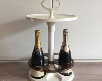 Vintage side bar Flair dranktafeltje retro tafeltje vintage seventies winerack / table