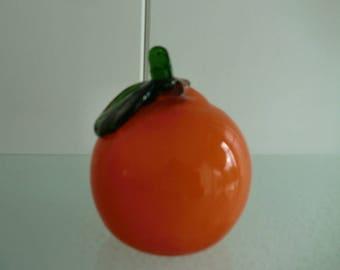 Murano Glass Orange Italy-design glass orange-Venetian glass