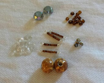Bead Kit, Jewelry Kit, Craft Kit, Earth Tones, Brown and Gray