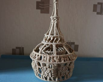 Original 1970s Macrame Light Shade