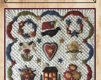 Primitive Baltimore by Traditional Primitives from Missie Carpenter wool appliqué pattern