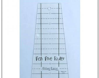 Fab Five Ruler, with free pillow pattern, by Abbey Lane Quilts, quilt ruler,