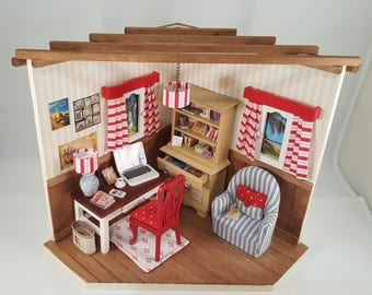 A Modern office 3D Diorama-3D Diorama -For a collector- Gift for him- Gift for her- Christmas gift- Mother's Day gift- Present