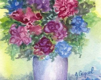 Bouquet - Original watercolor painting