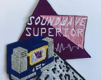 Soundwave Superior Retrowave Iron-On Patch