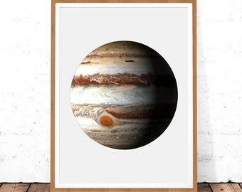 Space Print, Space Art, Jupiter Print, Jupiter Printable, Space Decor, Jupiter Art, Planet Poster, Planet Printable, Space Wall Art, Planet