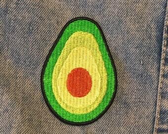 AVOCADO PATCH - Vegan patch - avocado flair - embroidered patch - mini avocado