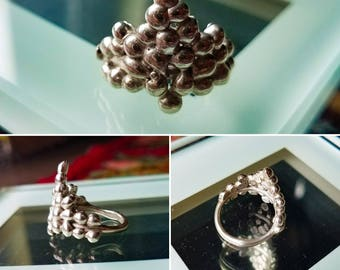 Maple Silver Cluster Ring