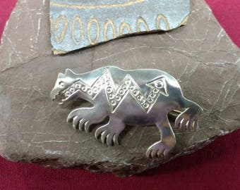 Native American Elwood Reynolds Bear Pin