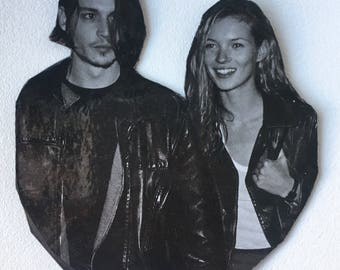 Johnny & Kate Forevz! Johnny Depp and Kate Moss inspired magnet - 90s icons, Supermodel