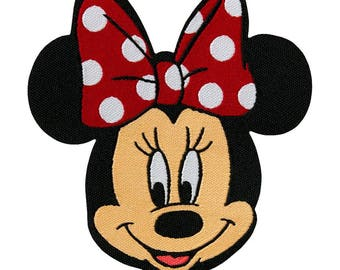 Patch / patch - Minnie mouse Disney cartoon children - Red - 6, 5 x 7, 5 cm - patch application applications to the iron application patches patch