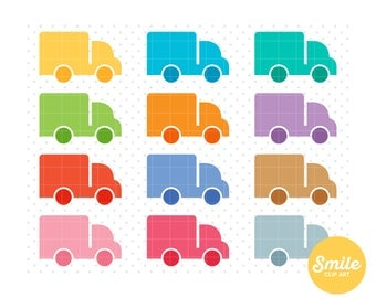 Moving Van Clipart for Commercial Use - C0183