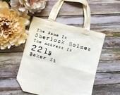 Sherlock Book Tote Bag- B...