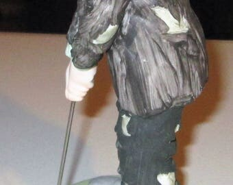 The Emmett Kelly Jr. Collection-FLAMBRO-Golfer-PORCELAIN FIGURINE w/Base Excellent!