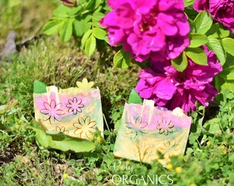 Flower Garden Soap (summer collection, all-natural soap, kid's soap, children's soap, handmade soap)