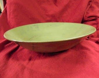 studio pottery bowl large green asian bowl fruit bowl