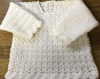 Printed Victoria Baby Crochet Sweater Pattern in DK. Sizes Birth to 6 Years. (1026)