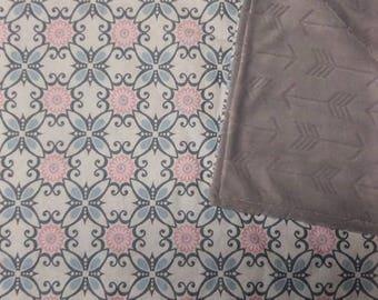 Minky Baby Blanket, Girl Minky Blanket, Pink Blanket, Minky Blanket, Soft Blanket, Newborn Baby Blanket