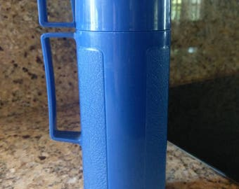 Vintage Blue Thermos • King Seeley