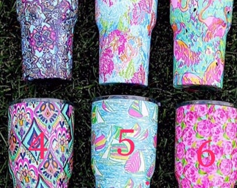 Lilly Pulitzer Inspired Tumbler