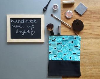 Floral MakeUp Bag, Toiletry Bag, Cosmetic Bag, Makeup pouch