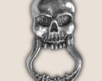SKULL SUNGLASS holder pin biker pin guardian bell gremlin