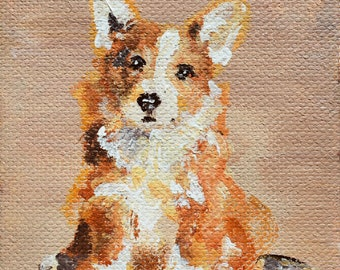 Miniature Acrylic Pet Portraits