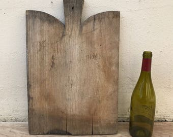 ANTIQUE VINTAGE FRENCH bread or chopping cutting board wood 10021812