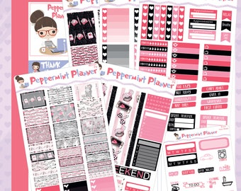 E Planner --- Planner Girl Weekly Planner Stickers --- #07