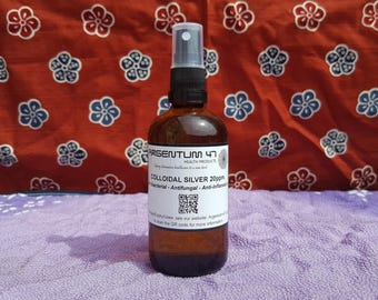 Colloidal Silver Atomised Spray by Argentum-47.com - 20ppm 100ml - Vegan and Chemical-Free.