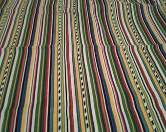 """Free Shipping 1 Yard 20 Of 42"""" Wide All Cotton Fabric Busy Builders By CHERI Strole For Northcott Multicolored Vertical Stripe"""