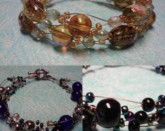 5 dollar sale! Your choice of bracelet! Gold, Blue or black. Toggle clasp