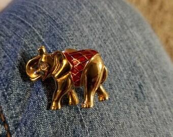 Vintage elephant pin
