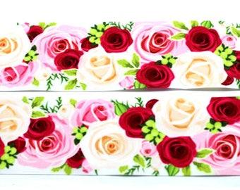 """Roses Grosgrain 7/8"""" Printed Ribbon"""